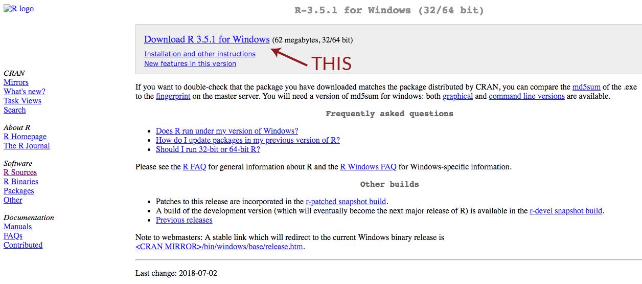 r programming language download mac